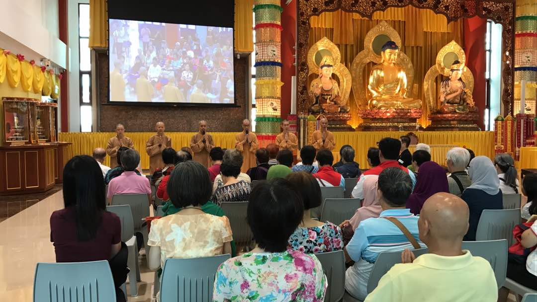 BW Monastery Sangha group gave blessings by reciting Heart Sutra and Medicine Buddha Mantra