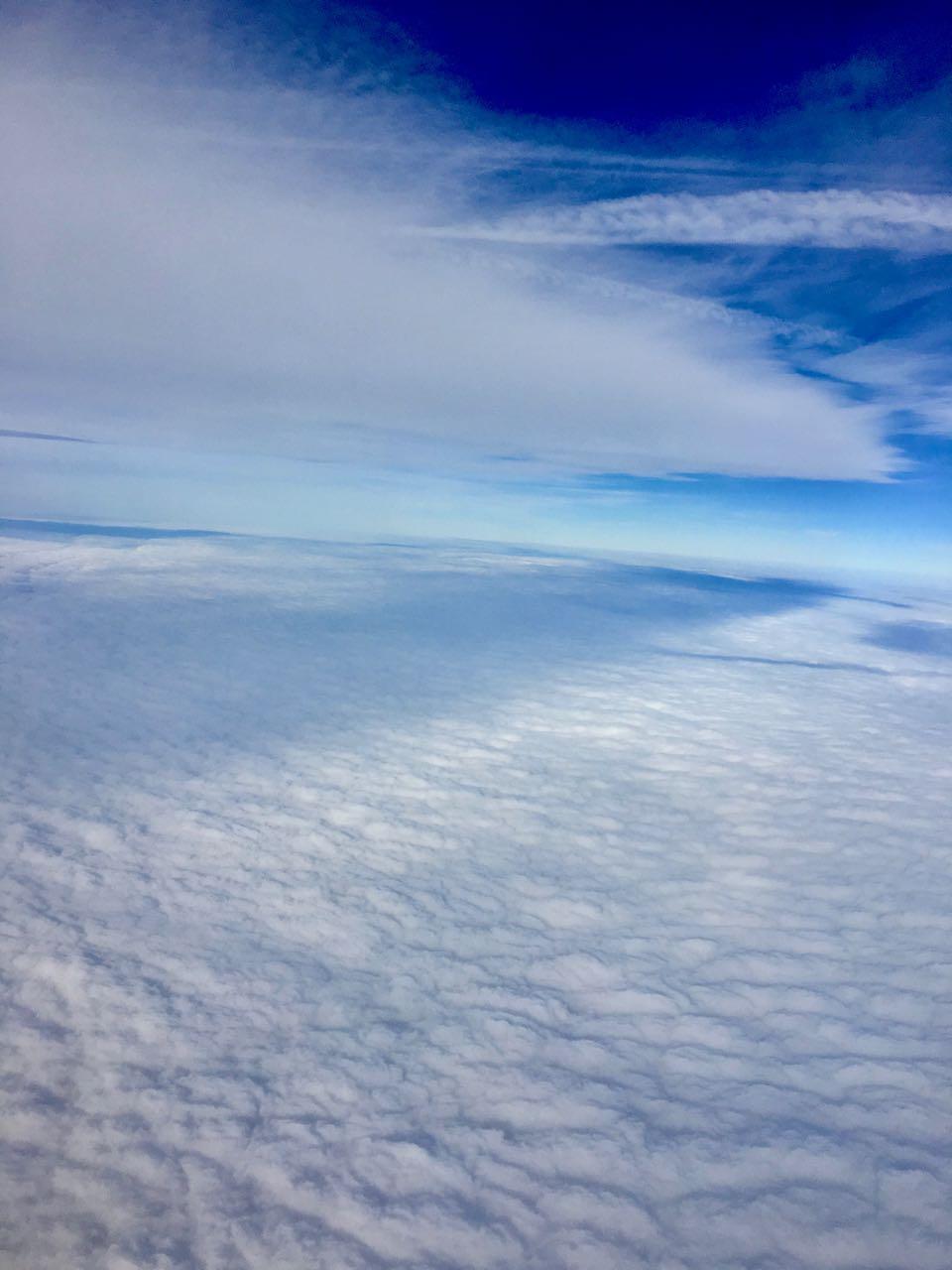 Blick über den Wolken
