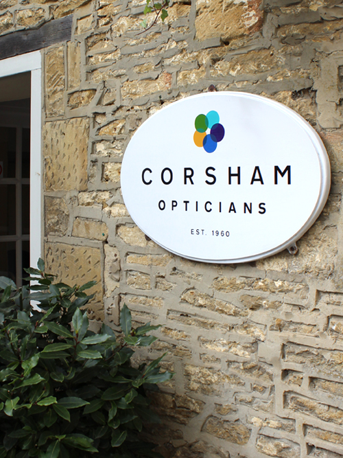 Corsham Opticians outside signage