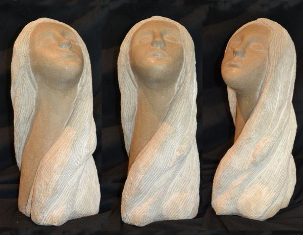 """""""IntheSunshineofmyMind"""" - 18"""" limestone - $800"""