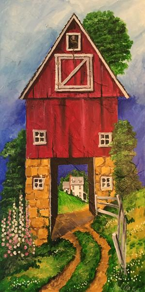 """""""""""HollyHockHill"""" - 24x48"""" - acrylic on canvas - in private collection"""