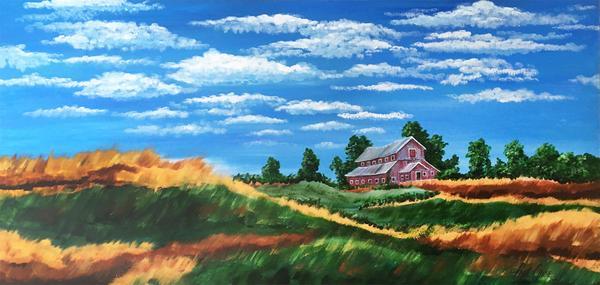 """""WindwavesofOchre"" - 30x60"" - acrylic on canvas - $2400"