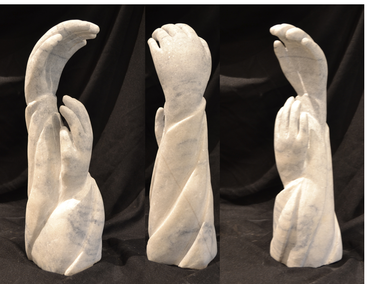 """Reaching HigherTogether"" - 13"" - Marble - $800"