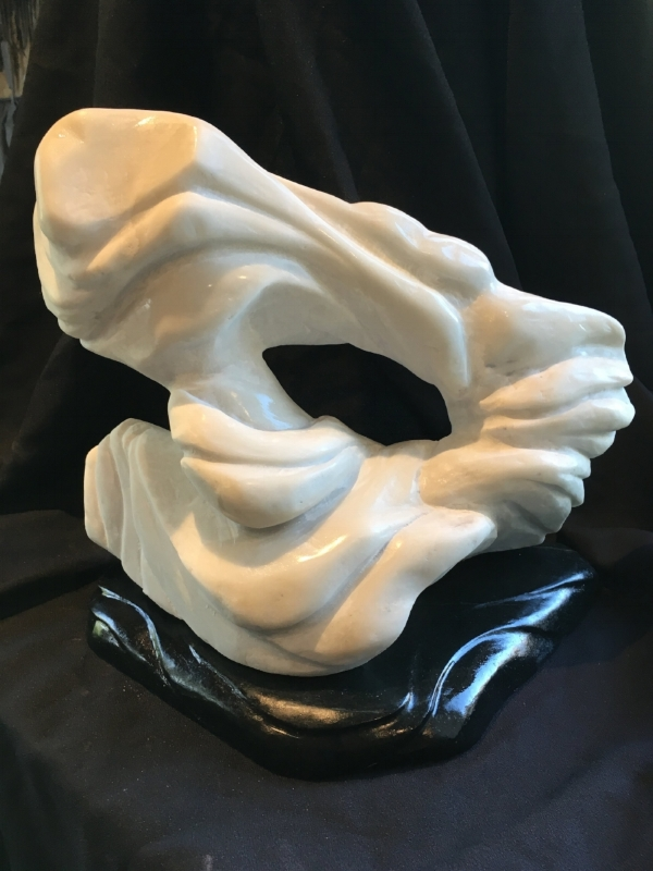 """SometimesItIsBlackAndWhite"" - 12x14x9"" - Marble and Soapstone - $1800"