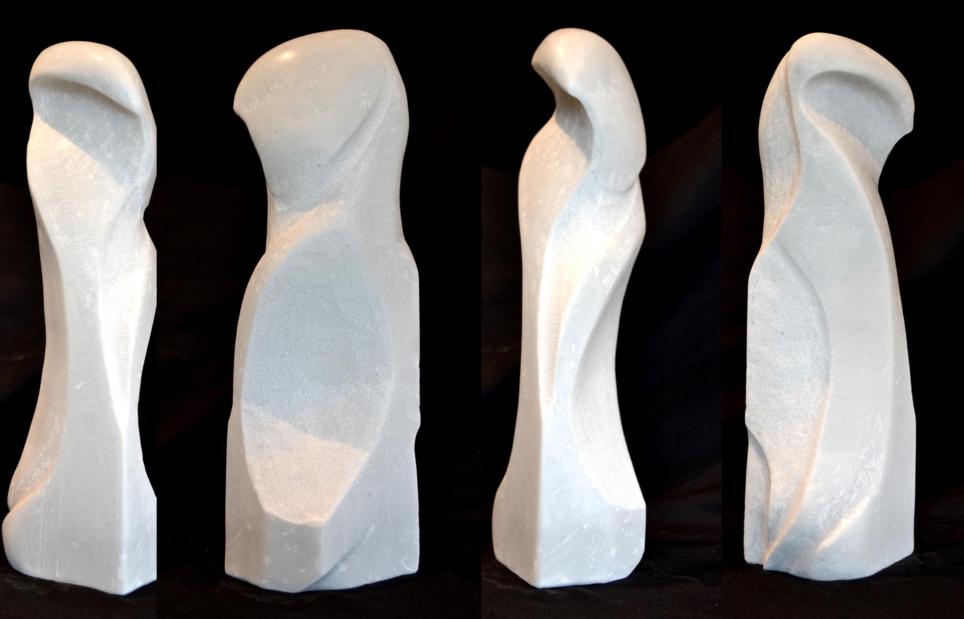 """WhiteStoneMotion"" - 16"" - Colorado Marble - in private collection"
