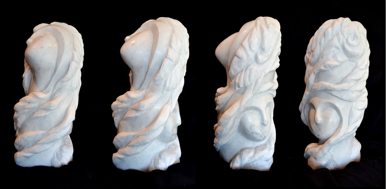 """TurnMyStoneHeart"" - 20x9x9"" - White Marble - $3000"