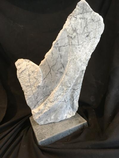 """""""ApproachingDownward"""" - 18x10x9"""" - Arizona Marble - Soapstone Base - $500"""
