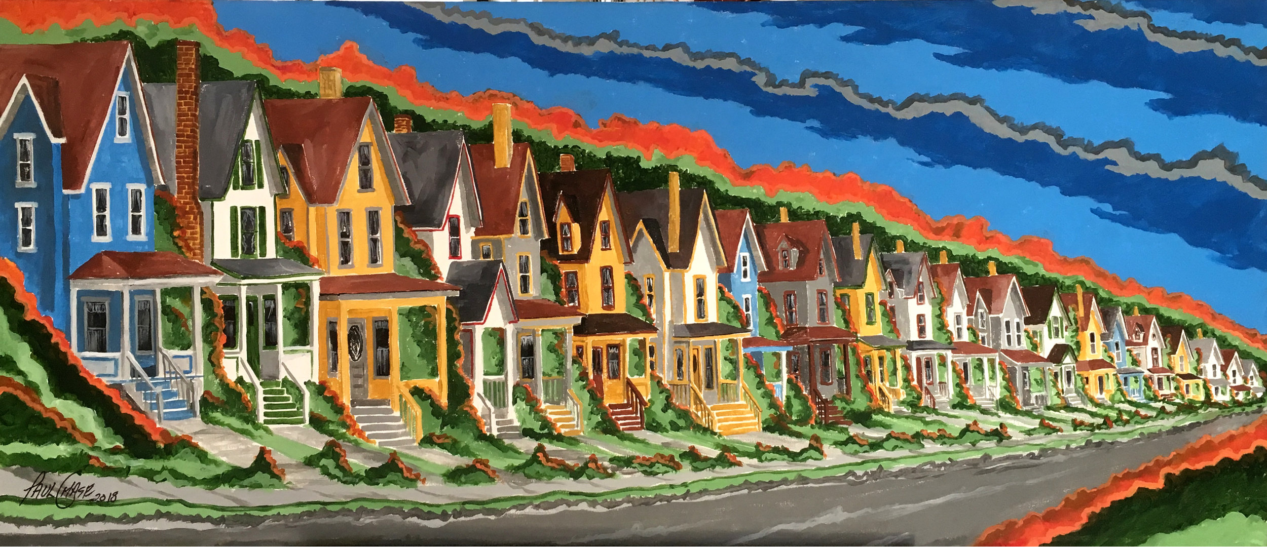 """""""Park Ave. 21"""" - 20x40"""" - acrylic - in private collection"""