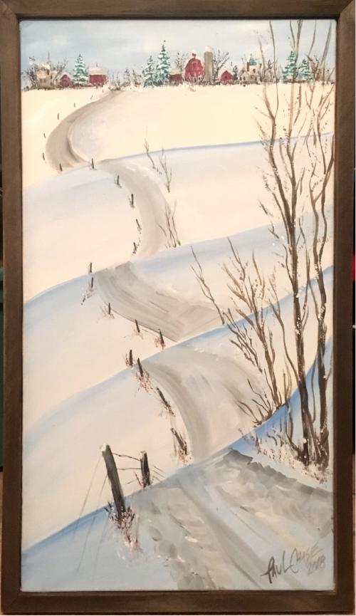 """SnowyRoads"" - 24x30"" - acrylic - $200"