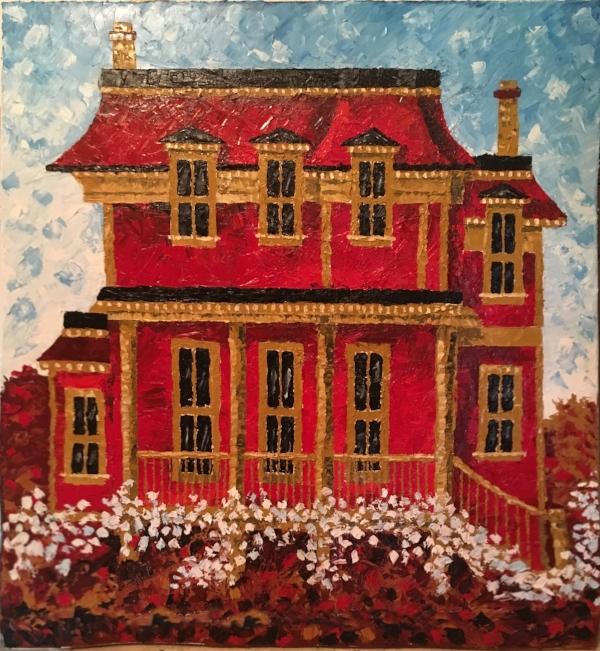 """ParkStreetReds"" - 36x40"" Oil on canvas - $1000"