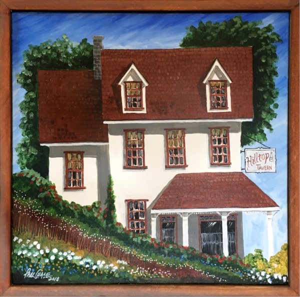 """""""Hilltop Tavern"""" 24x24"""" acrylic - original in private collection"""