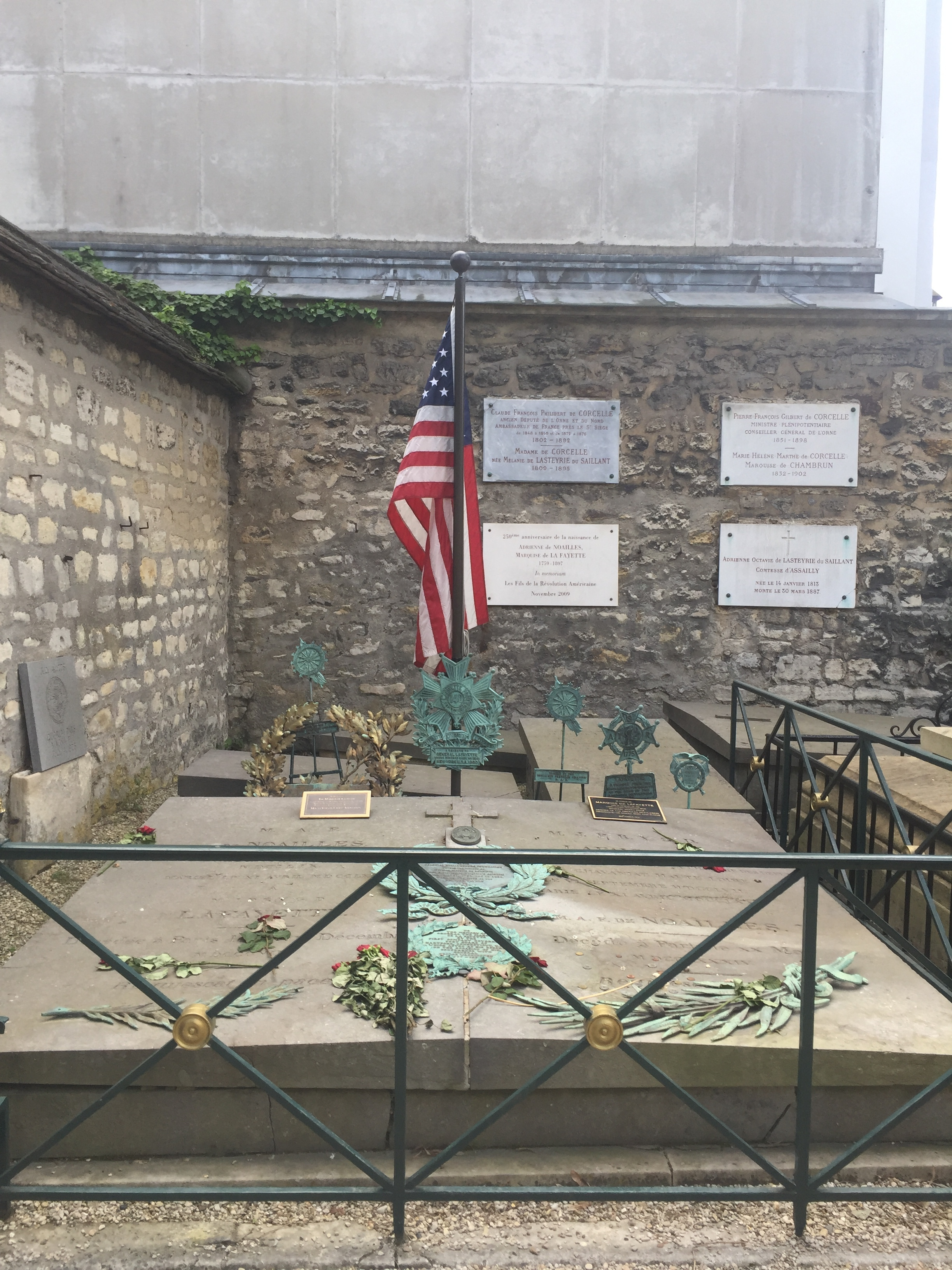 Grave of Lafayette whose wife's family were killed during The Terror.