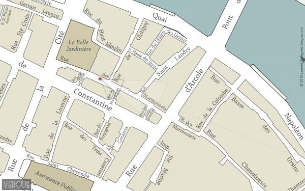 Map of Ile de La Cité