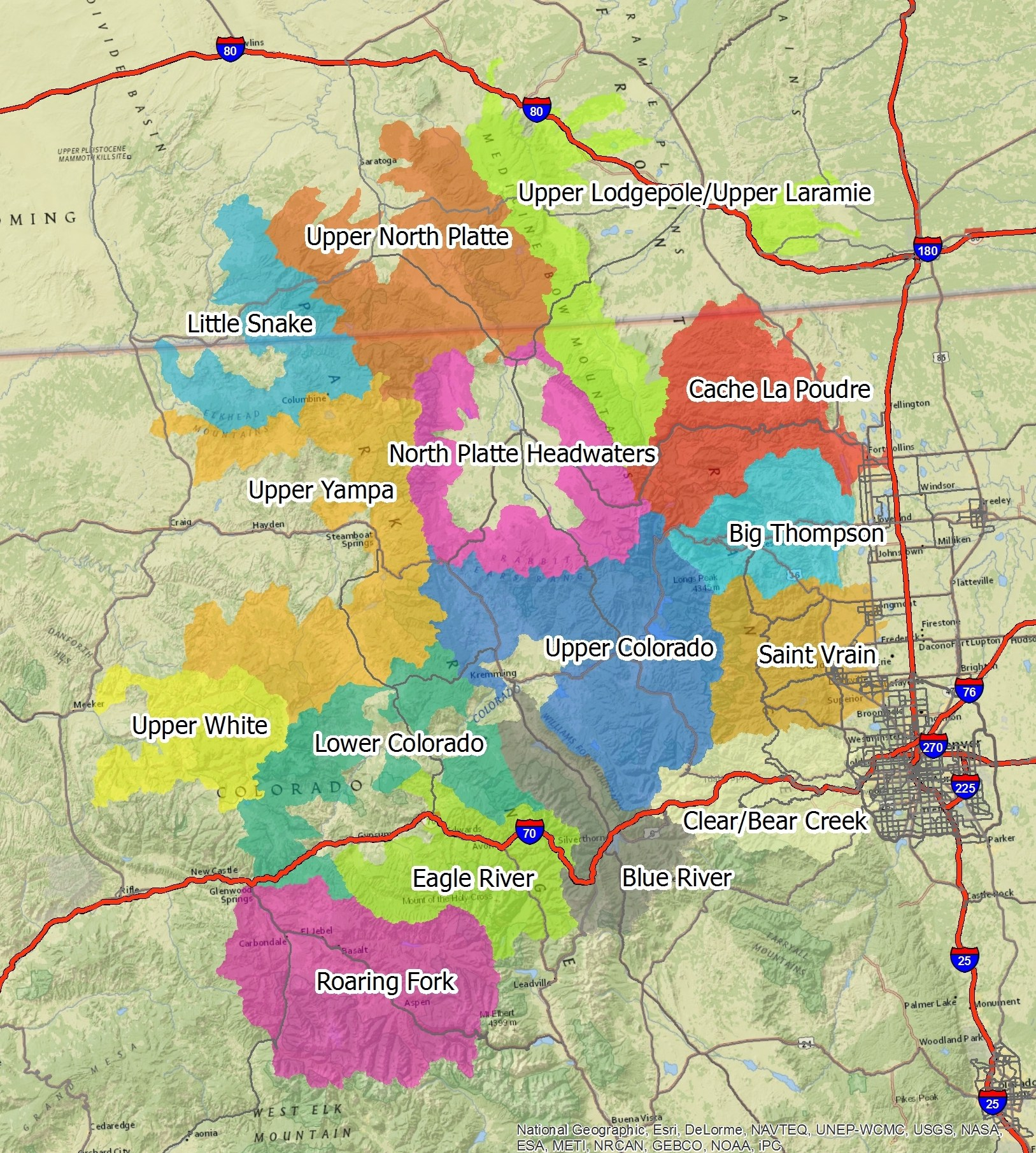 Map of BBI Assessment Watersheds -