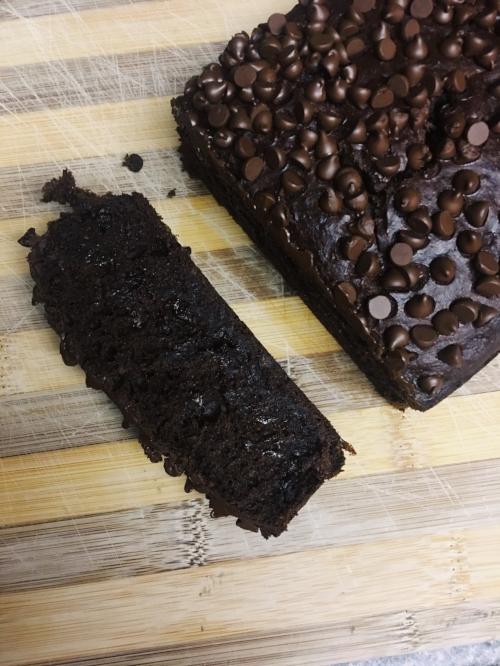 Chocolate Banana Bread Sliced Vegan