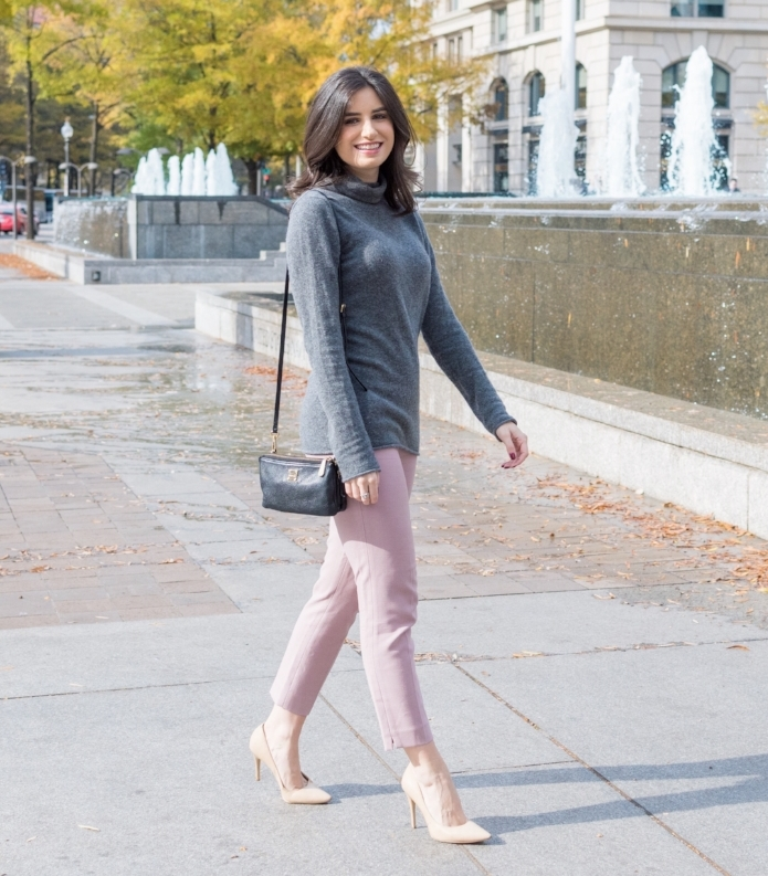 Cropped pants and Soft Sweater