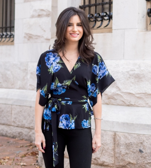 Pretty Floral Top for Winter Months