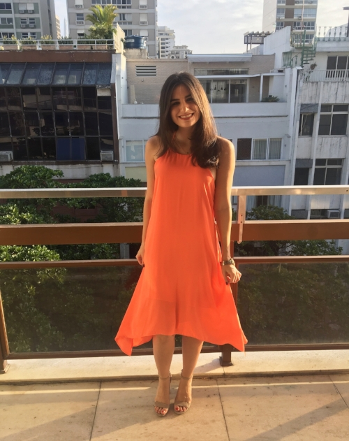 This was taken in Rio on Matt's balcony as we were heading out to dinner for my birthday <3 The dress has been in my closet for awhile, so I can't link to it! But it's from Revolve.
