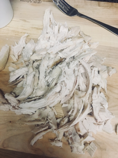 Shredded Chicken for Maple Cranberry Chicken Salad Recipe