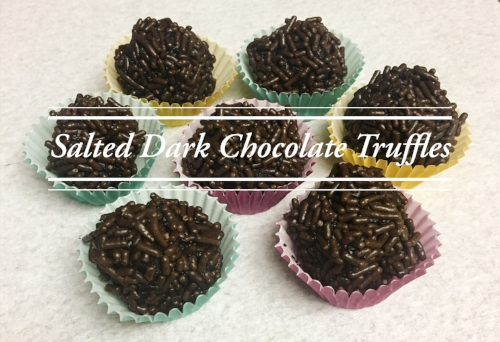 Salted Dark Chocolate Truffles Recipe