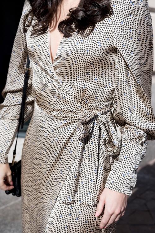 Silk dress details