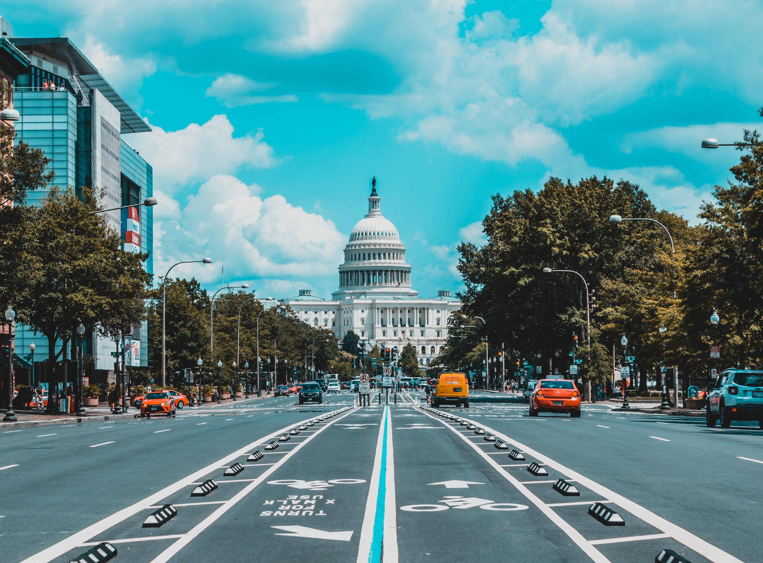 Pennsylvania Avenue, Washington, D.C.  Photo by  Jorge Alcala  on  Unsplash