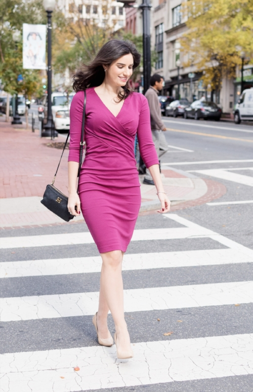 Pretty bold color dress for work