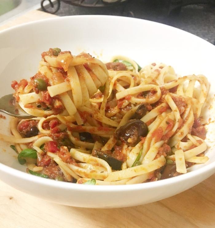 Puttanesca Sauce with Pasta