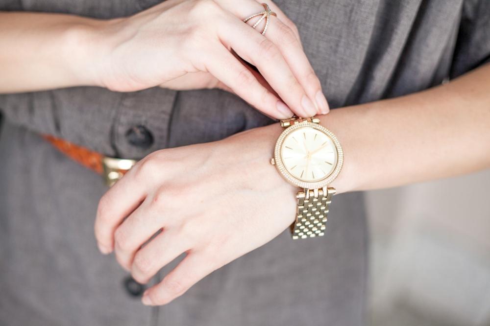 Pretty gold watch