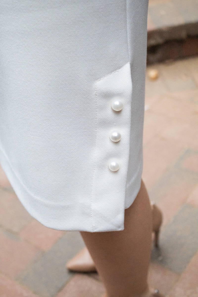 white pearl skirt
