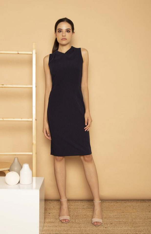Pleat Neck Dress | SOTP | $159