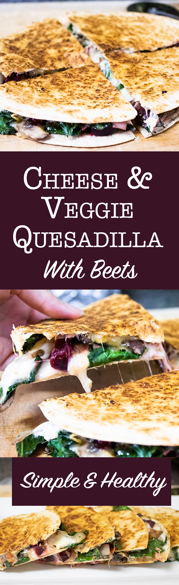 Low calorie vegetable and cheese quesadilla recipe