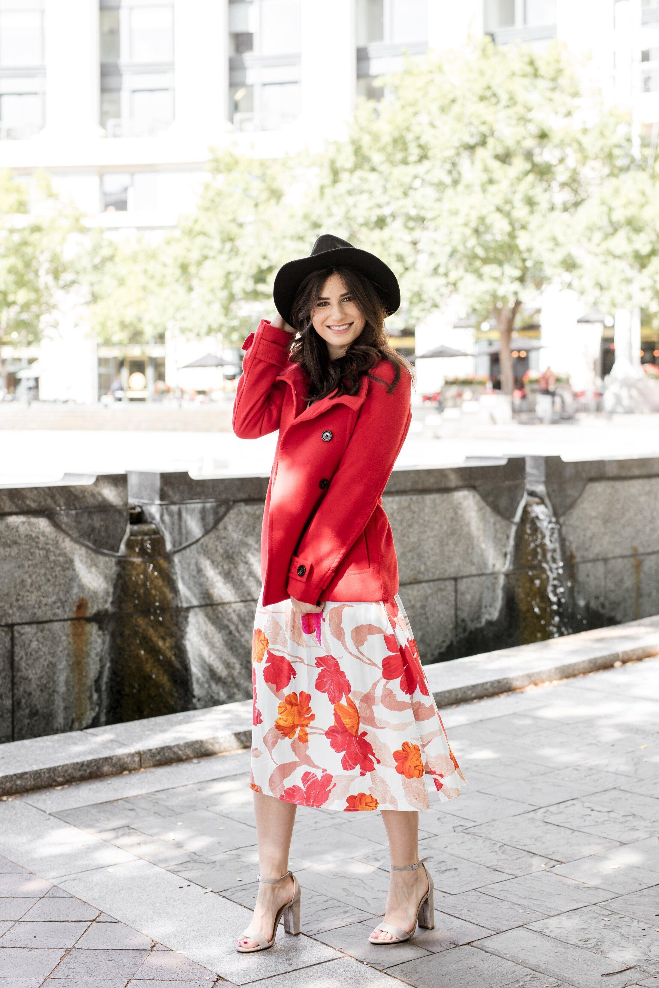 Red+Coat+Look