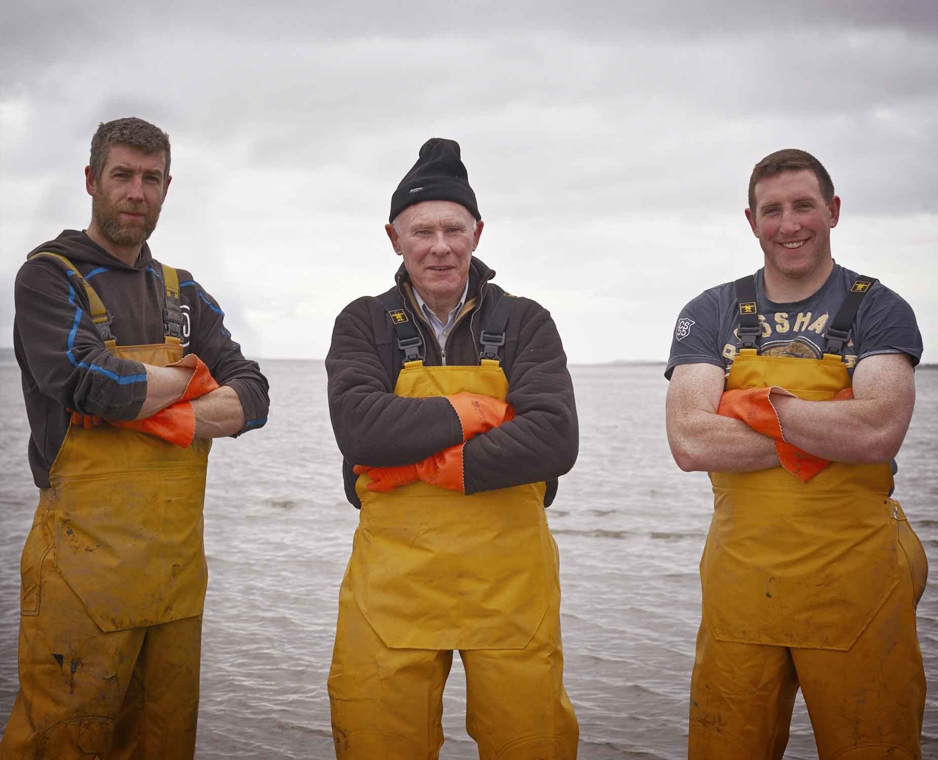 From left to right: Bernard, Michael, and Thomas. Source: www.moyastaoysters.com