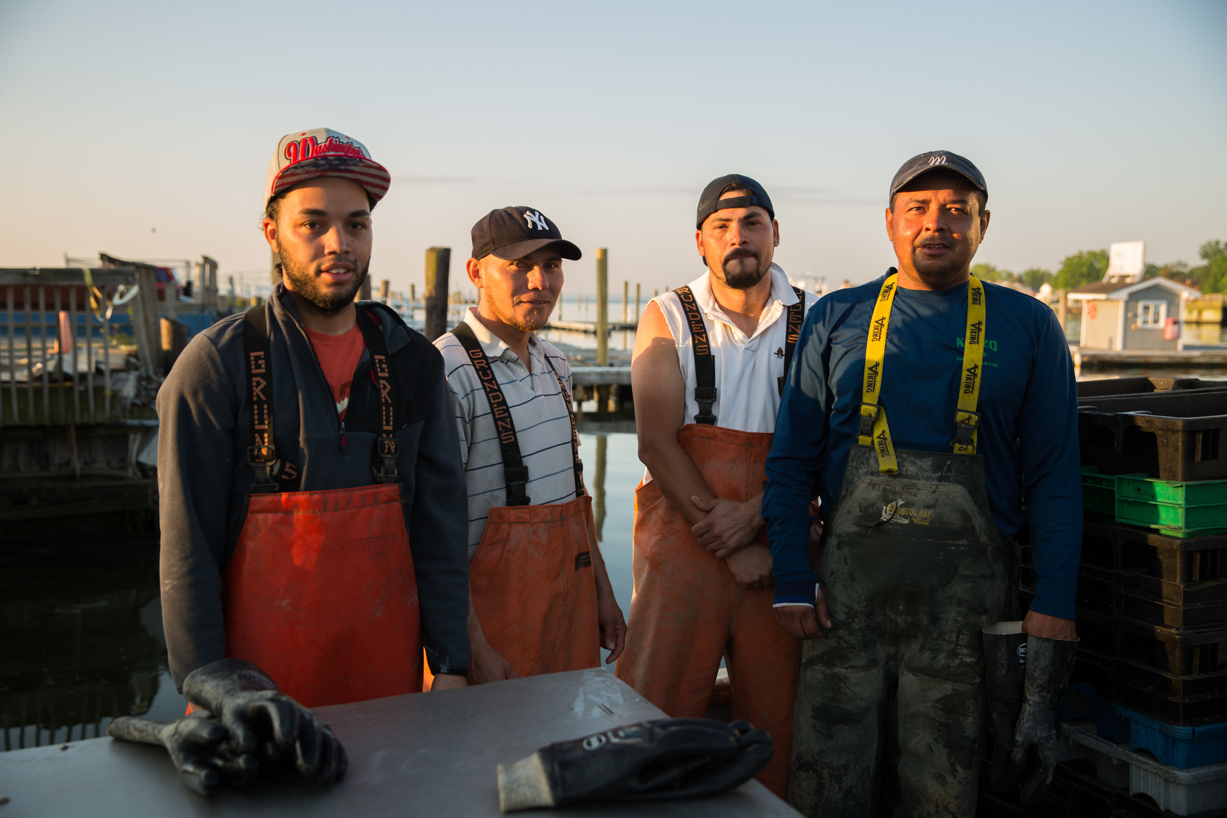 Smiles from crew members. Source: www.stellamaroysters.com