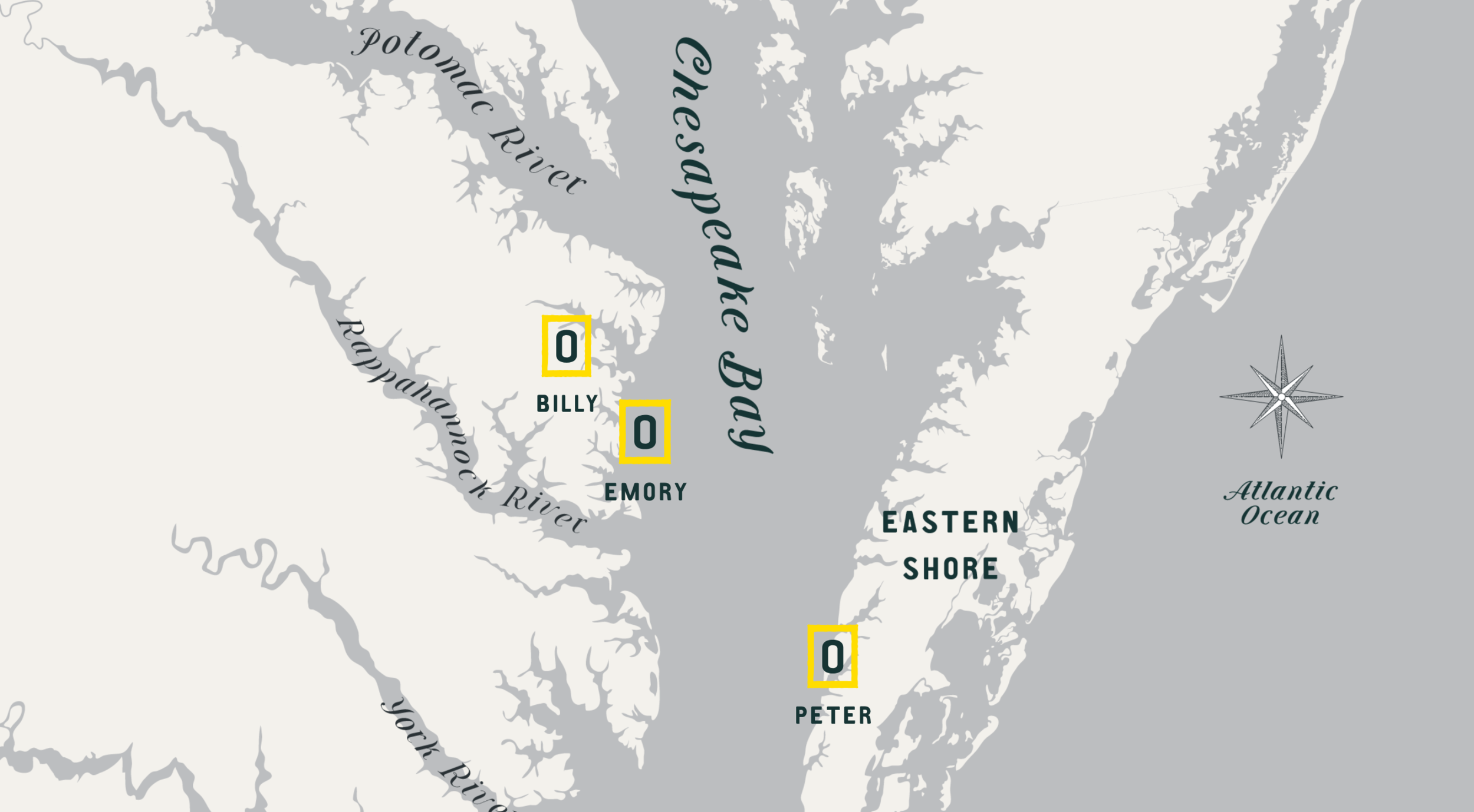 Map of Onliest Oyster Co farms. Source: onliestoysterco.com