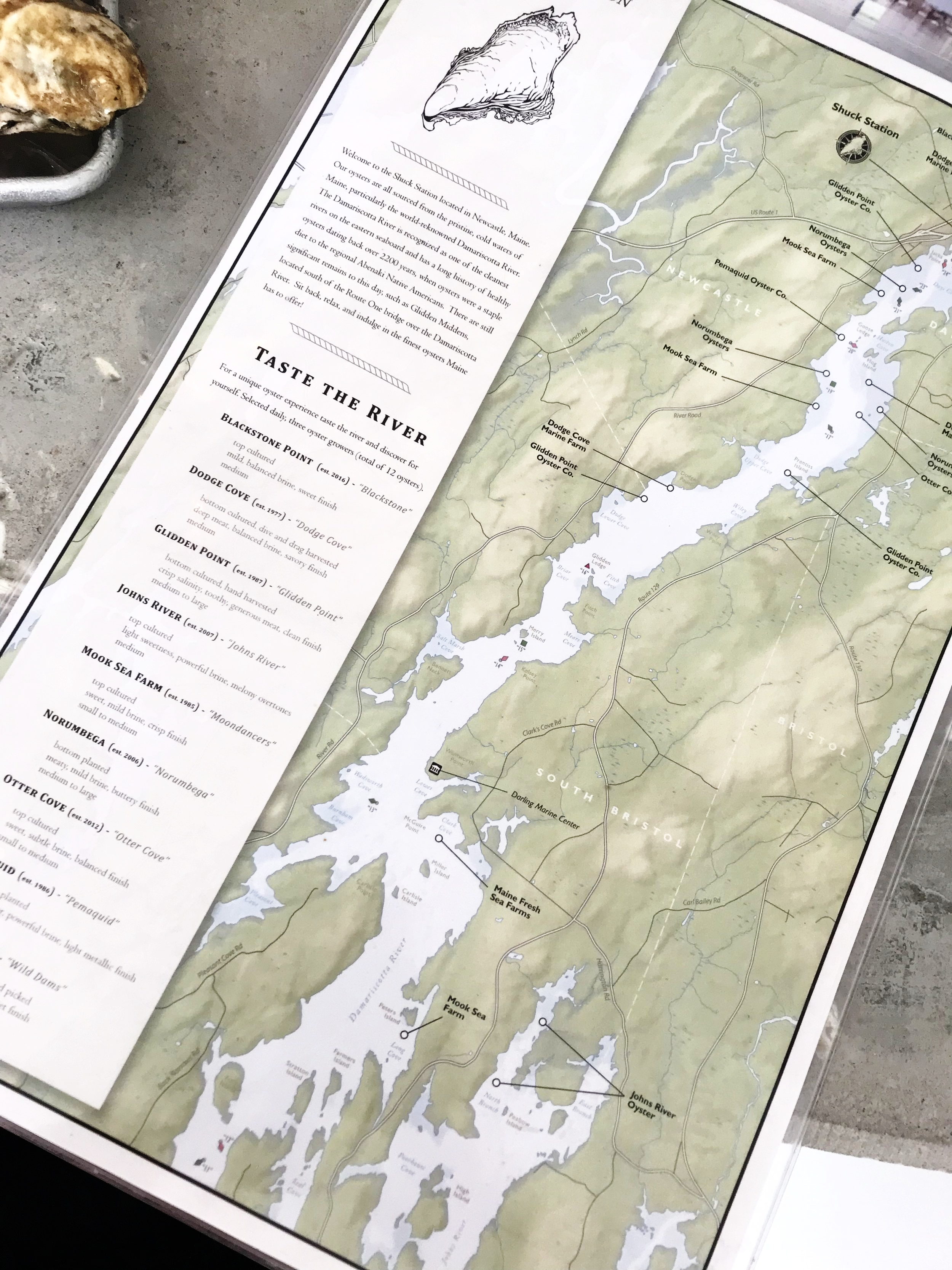 The Oyster Menu - A Map!