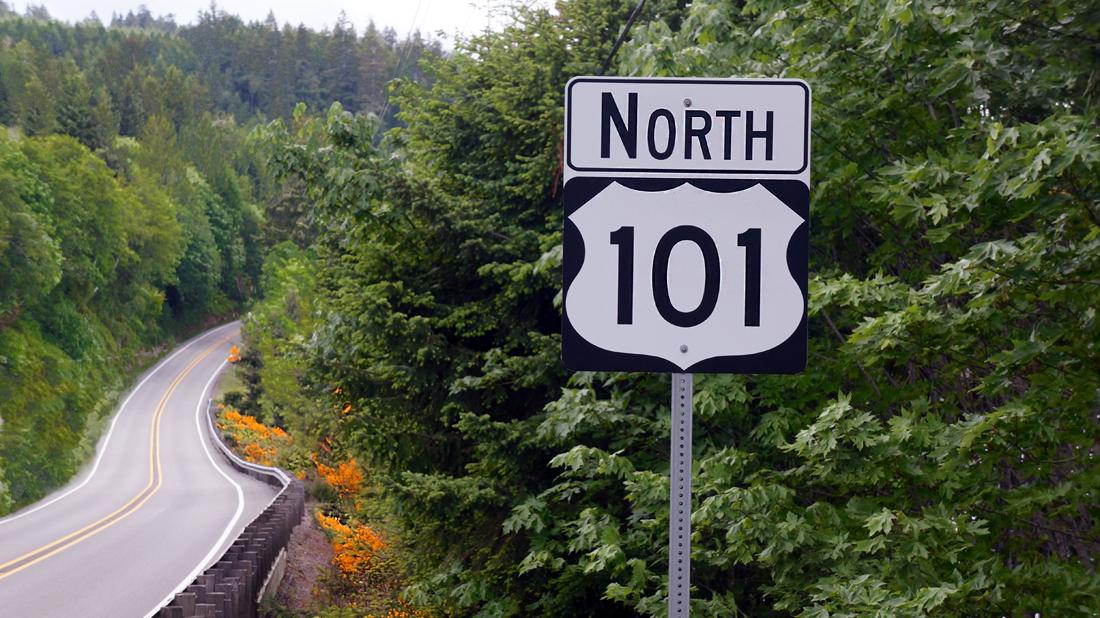 Highway 101 North - the scenic drive to Mikes Beach Resort. Source: Matthew Macias