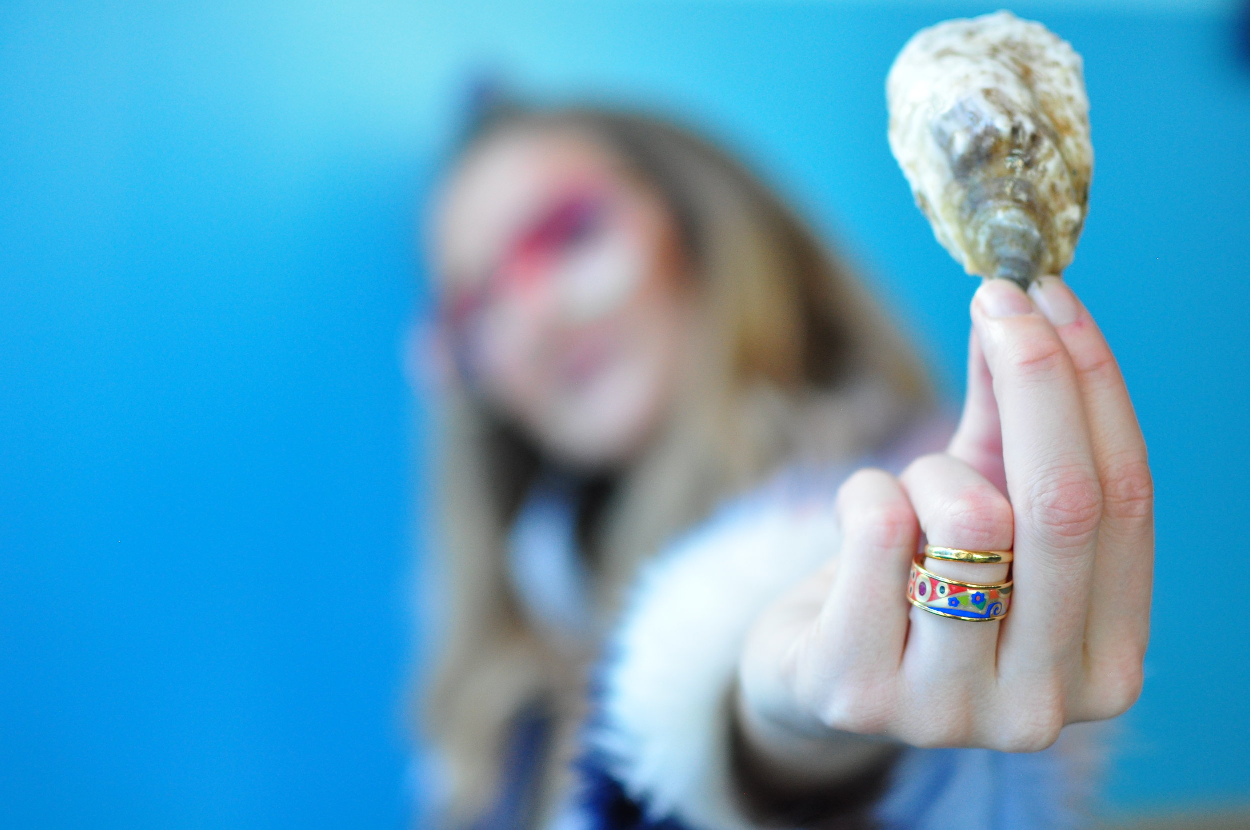 Rock on, oyster love. Taken at EBO deep blue sea party. Photo cred: Warwick Ombler of Lady Oyster