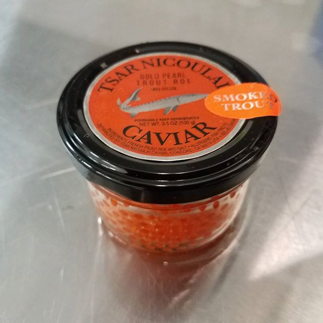 New here at Royal we now offer Smoked Trout Roe.  #royal #hawaiian #seafood #royalhawaiianseafood #rhs #seafood #seafoodwholesale #localseafood #localfish #local #california #bayarea #southsanfrancisco #localbusiness #justin