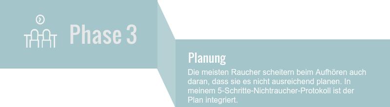 Rauchen-aufhoeren-Phasen-Phase-3 - Planung - 5-Schritte-Nichtraucher-Protokoll von Siebengebirgs-Hypnose