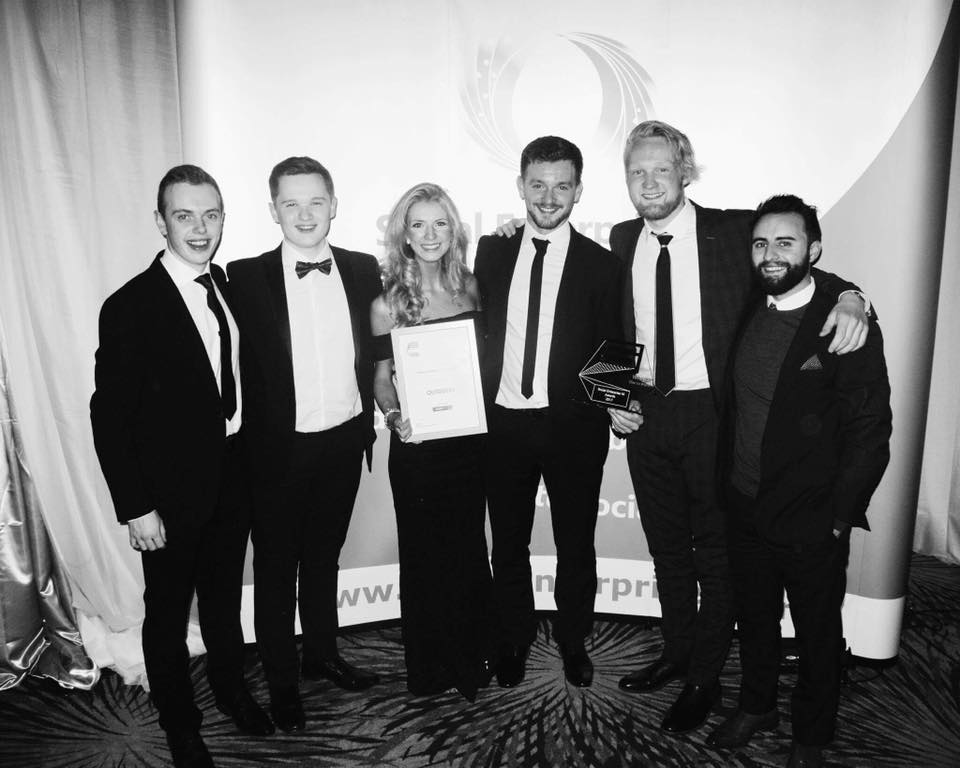 Team Photo Of OutsideIn after winning their 'one to watch' social enterprise award.jpg