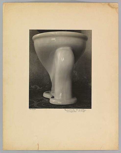 Edward Weston,  Excusado (Toilet) , 1925