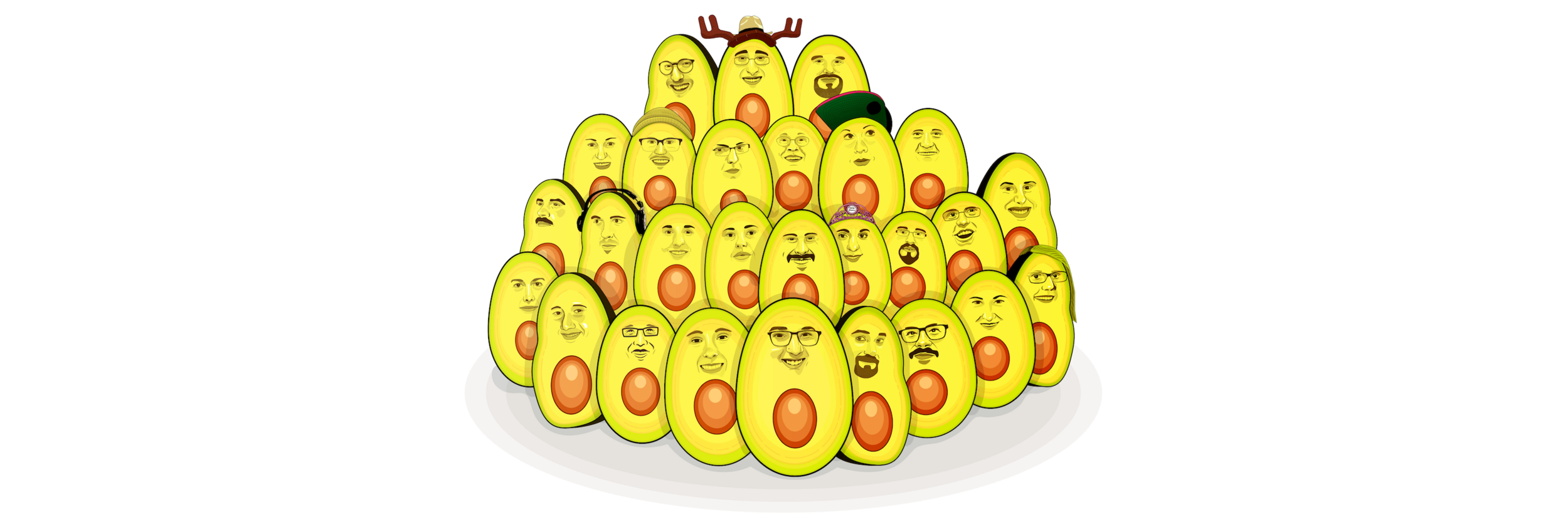 """The """"Developer Avocados"""" on the front of  my book . Artwork created by Erick Zelaya."""