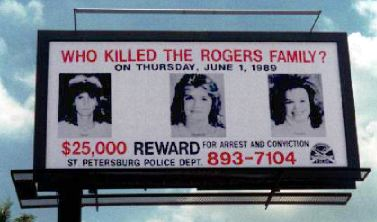 One of the billboards made during the investigation.