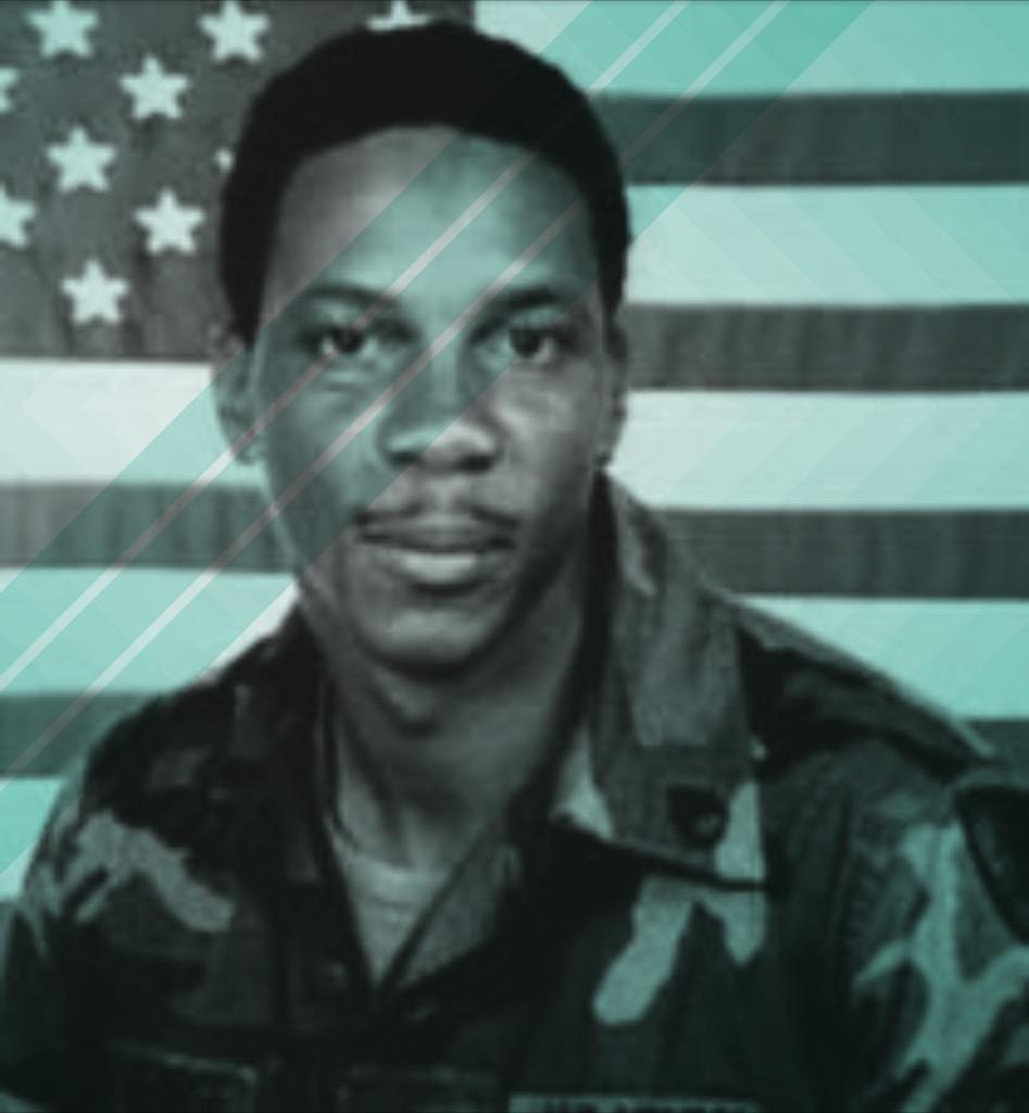 Larry Donald George in uniform.