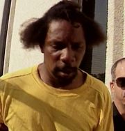 Larry George after his arrest.