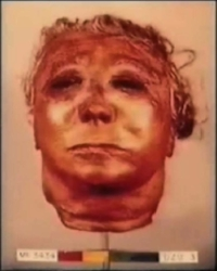 The mask created by Ed Gein made from the skin of one of his victims.