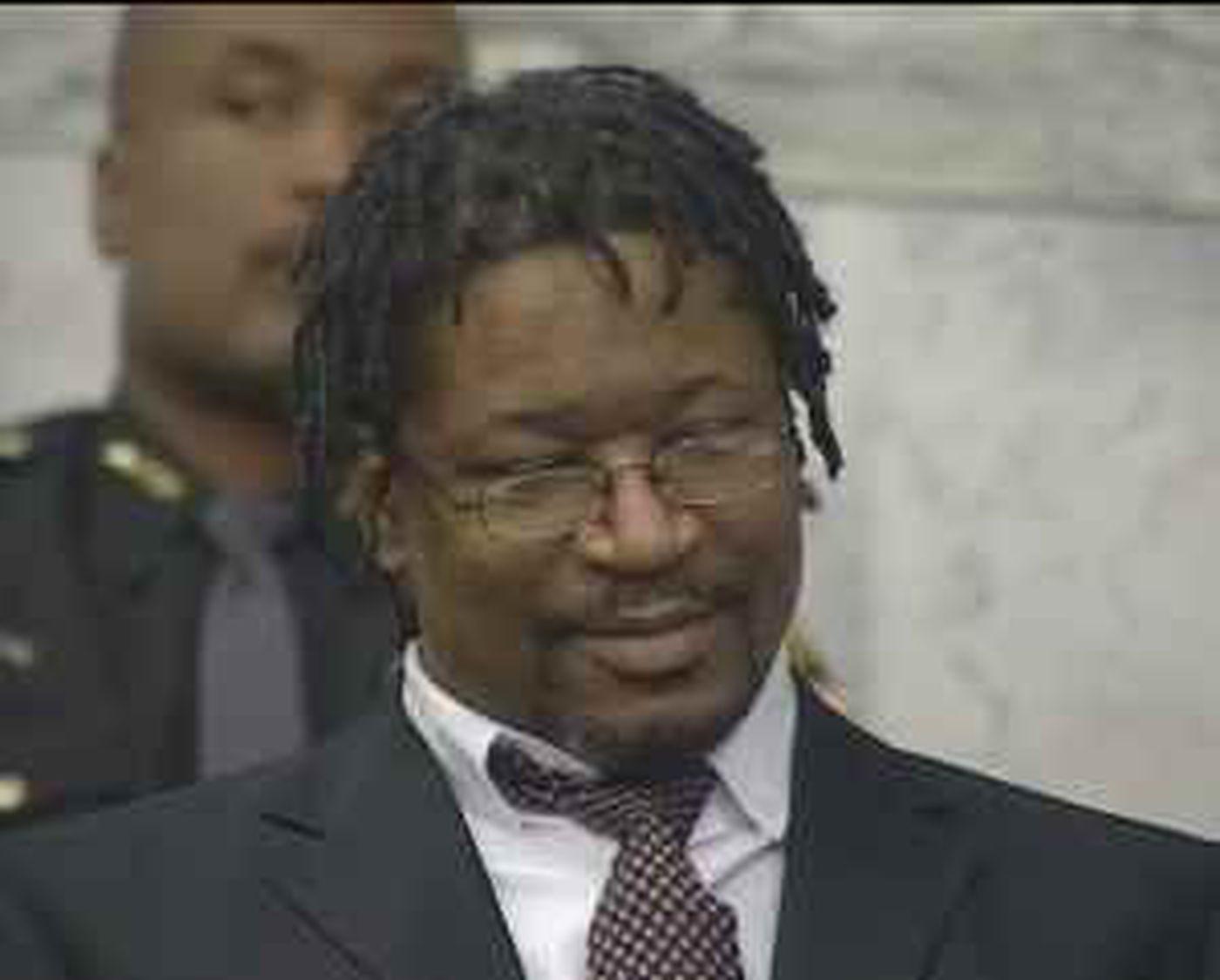 Kirkland smirking in court