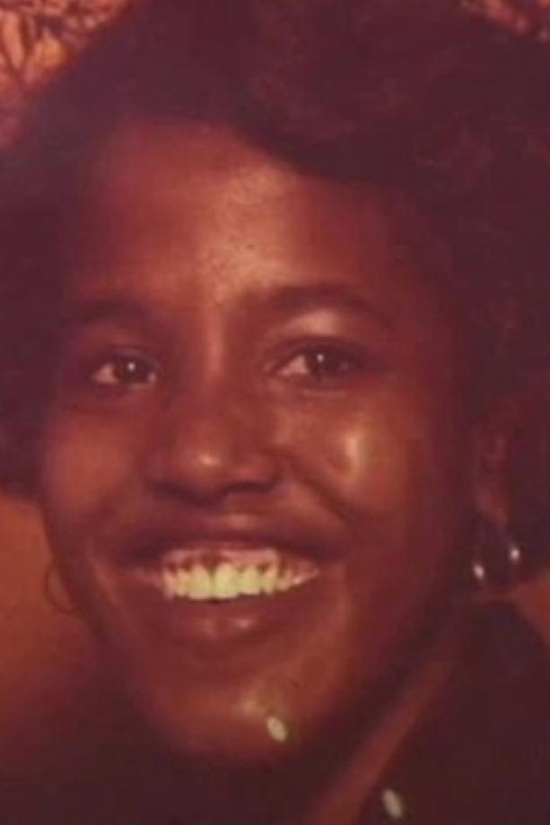 A smiling Leola Douglas, Kirkland's first victim